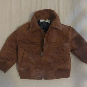 Tan suede bomber jacket. Never worn